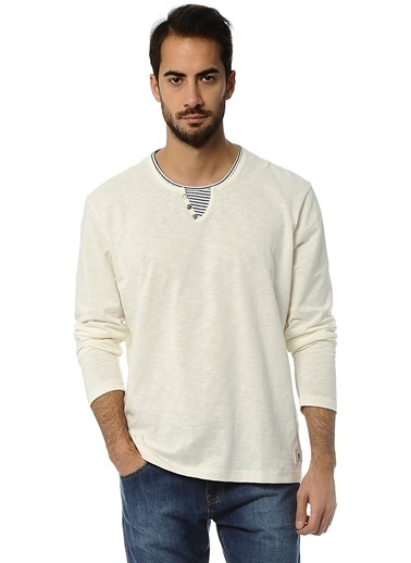 Asymmetry Sweatshirt Beyaz